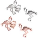 Sterling Silver Flo Flamingo Ear Stud Earrings ES24 - SKU 33198
