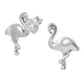 Sterling Silver Frida Flamingo Ear Stud Earrings ES25 - SKU 33199