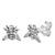 Sterling Silver Honey Bee Ear Stud Earrings ES19 - SKU 33200
