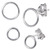 Sterling Silver Simple Circle Silver Ear Stud Earrings ES22 - SKU 33203
