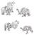 Sterling Silver Elephant Ear Stud Earrings ES27 - SKU 33206
