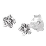 Sterling Silver Flower Ear Stud Earrings ES29 - SKU 33207