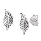 Sterling Silver Leaves Ear Stud Earrings ES21 - SKU 33209