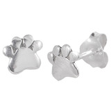 Sterling Silver Paw Print Ear Stud Earrings ES23 - SKU 33211