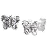 Sterling Silver Butterfly Ear Stud Earrings ES30 - SKU 33215