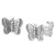 Sterling Silver Butterfly Ear Stud Earrings ES30 - SKU 33215