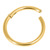 Gold Plated Steel Hinged Segment Ring (Clicker) - SKU 33557