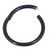 Black Steel Hinged Segment Ring (Clicker) - SKU 33629