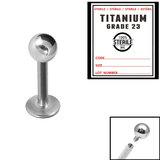 Sterile Titanium Internal Thread Labret - SKU 33689
