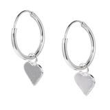 Sterling Silver Hoops - Drop Earrings - Cross, Heart, Star - SKU 33700