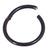 Black Steel Hinged Segment Ring (Clicker) - SKU 33728