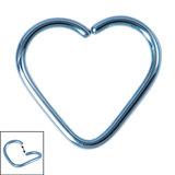 Titanium Continuous Heart Twist Rings - SKU 33738