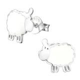 Sterling Silver Sheep Ear Stud Earrings - SKU 33743