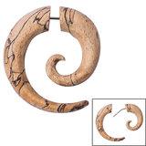 Organic Wood Fake Spiral Stretcher - Tamarind Wood - SKU 33845