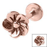 Steel Labret with Steel Flower 1.2mm - SKU 33924