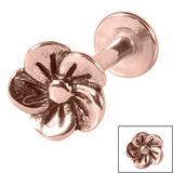 Steel Labret with Steel Flower 1.2mm - SKU 33925