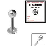 Sterile Titanium Internal Thread Labret - SKU 33933