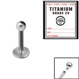 Sterile Titanium Internal Thread Labret - SKU 33941