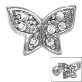 Steel Threaded Attachment - 1.2mm Steel Multi-gem Butterfly - SKU 33944