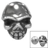 Steel Threaded Attachment - 1.2mm Cast Steel Skull - SKU 33945