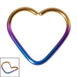 Titanium Coated Steel Continuous Heart Twist Rings - SKU 33977