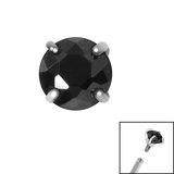 Titanium Claw Set CZ Jewel for Internal Thread shafts in 1.2mm (0.9mm) - SKU 34056