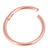 Rose Gold Titanium Hinged Segment Ring (Clicker) - SKU 34187