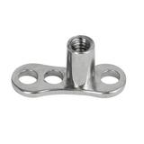 Titanium Dermal Anchor Base - Curved - SKU 34198