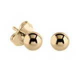 Steel Ear Stud Earrings with Ball - SKU 34200