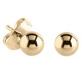 Steel Ear Stud Earrings with Ball - SKU 34201