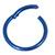 Titanium Hinged Segment Ring (Clicker) 1.2 and 1.6mm Gauge - SKU 34528