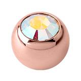 Rose Gold Titanium Jewelled Balls 1.2mm - SKU 34625