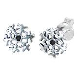 Sterling Silver Snowflake Ear Stud Earrings ES33 - SKU 34688