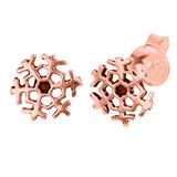 Sterling Silver Snowflake Ear Stud Earrings ES33 - SKU 34689