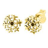 Sterling Silver Snowflake Ear Stud Earrings ES33 - SKU 34690