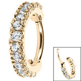 Steel Claw Set Jewelled Edge Clicker Ring - SKU 34750