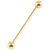 Zircon Titanium Industrial Scaffold Barbell (Gold colour PVD) - SKU 34805
