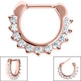 Steel Claw Set Jewelled Clicker Ring - SKU 34907