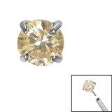 Titanium Threadless (Bend fit) Claw Set CZ Jewels - SKU 35343