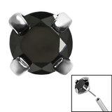 Titanium Threadless (Bend fit) Claw Set CZ Jewels - SKU 35347