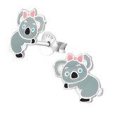 Sterling Silver Koala Bear Ear Stud Earrings - SKU 36135