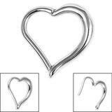 Steel Heart Hinged Clicker Ring - SKU 36136