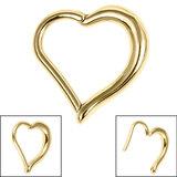 Steel Heart Hinged Clicker Ring - SKU 36137