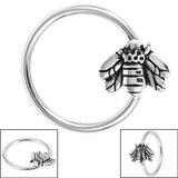 Steel BCR with Steel Clip In Honey Bee - SKU 36140