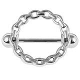 Steel Solid Chain Nipple Surround with Steel Bar - SKU 36147