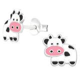 Sterling Silver Cuddly Cow Ear Stud Earrings - SKU 36497