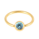 Gold Plated Steel Jewelled BCRs light_blue / 14 / 1.6