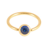 Gold Plated Steel Jewelled BCRs capri_blue / 14 / 1.6
