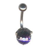 Belly Bar - Crystal Ball (TU110) Amethyst AB