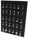 Display Boards DB2. Width:175mm Height:225mm. Holds 42 pieces. Jewellery not included. Black.